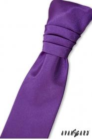 Fialová francúzska kravata chlapčenská + vreckovka