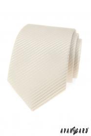 Smotanová pánska kravata s žíhaným vzorom