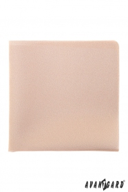 Béžová jednofarebná vreckovka do saka