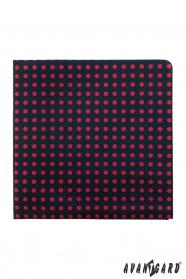 Modrá vreckovka s červenými bodkami