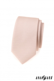 Pánska kravata slim vo farbe Ivory