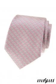 Pánska kravata s ružovým vzorom