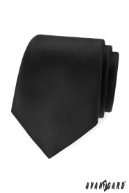 Čierna, matná kravata Avantgard