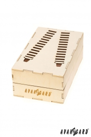 Drevená darčeková krabička na traky