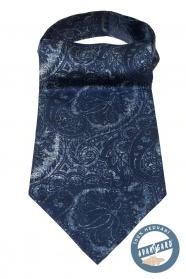 Modrý Askot so zaujímavým paisley vzorom