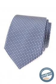 Hodvábna kravata s modrým vzorom