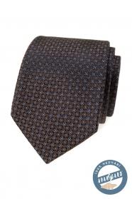 Hnedá hodvábna kravata v darčekovej krabičke