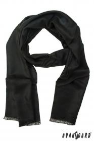 Jednofarebny pánsky šál čierny