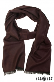 Jednofarebný pánsky šál hnedý