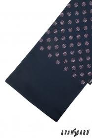 Tmavo modrá šál s farebným vzorom