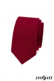 Vínová slim kravata
