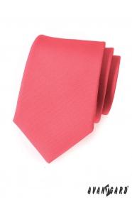 Matná kravata Avantgard koralovej farby