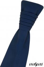 Tmavo modrá francúzska kravata