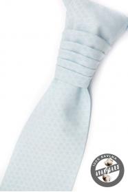 Svetlo modrá francúzska kravata s vreckovkou