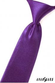Chlapčenská kravata fialová lesk