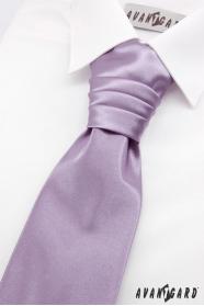 Svetlo fialová francúzska chlapčenská kravata + vreckovka