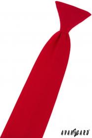 Chlapčenská kravata matne červená