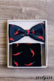 Pánsky motýlik Chilli v sete s ponožkami