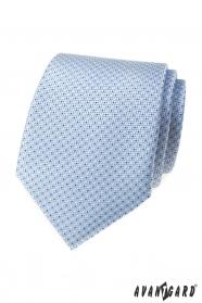 Svetlo modrá kravata s bodkami