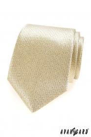 Zlatistá štruktúrovaná kravata