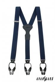 Luxusné modré traky Y na klipy, darčekové balenie