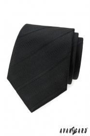 Čierna kravata s šikmými prúžkami