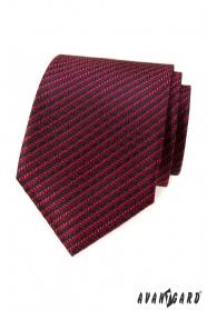 Červená kravata s modrým 3D vzorom
