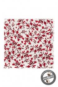 Biela kvetinová vreckovka