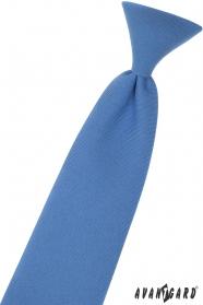 Modrá chlapčenská kravata 31 cm