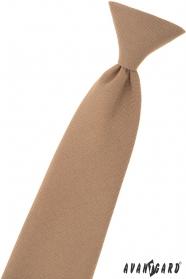 Svetlo hnedá chlapčenská kravata