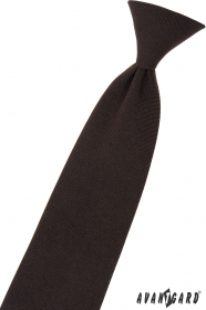 Hnedá chlapčenská kravata