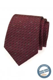 Bordó kravata hodvábna v darčekovej krabičke