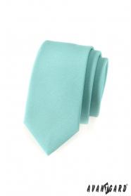 Slim kravata v mätovo zelenej