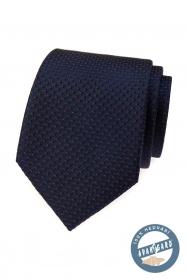 Modrá hodvábna kravata s červenou v darčekovej krabičke
