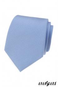 Modrá kravata s bodkami