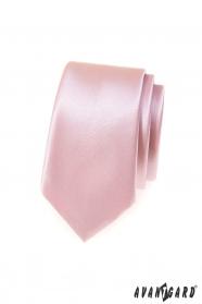 Pánska kravata SLIM v púdrové farbe