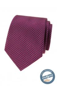 Hodvábna kravata v bordó s modrým vzorom
