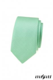Mätovo zelená slim kravata