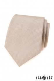 Béžová kravata s bodkami