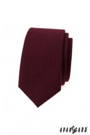 Slim kravata vo farbe bordó