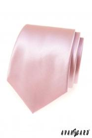 Pánska kravata Pudrová/ružová
