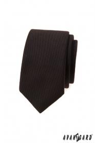 Tmavo hnedá slim kravata