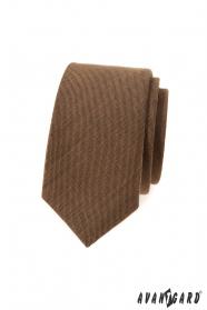 Škoricovo hnedá slim kravata
