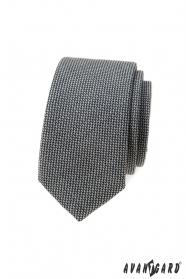 Šedá 5 cm úzka kravata