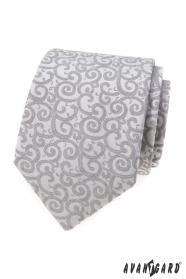 Svetlo šedá kravata so vzorom