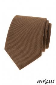 Škoricovo hnedá kravata LUX