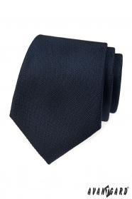 Tmavo modrá štruktúrovaná kravata