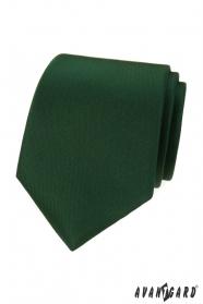 Matná zelená kravata LUX