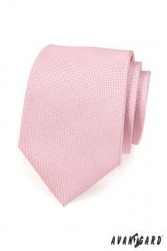 Svetlo ružová kravata v púdrovom odtieni