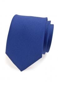 Modrá matná kravata